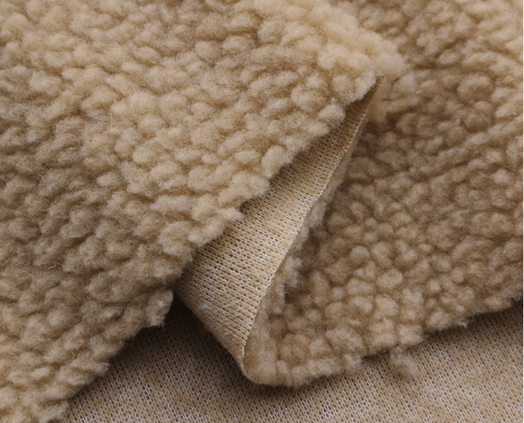 Sherpa fleece fabric