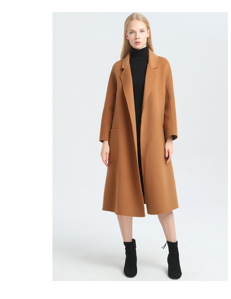 Double-faced Wool Cashmere Coat, Camel