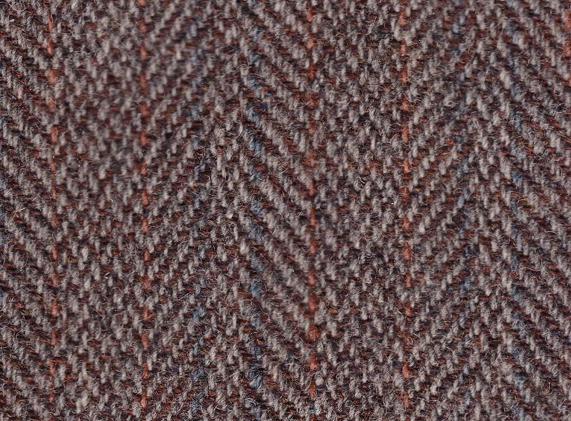 Harris tweed herringbone twill tweed