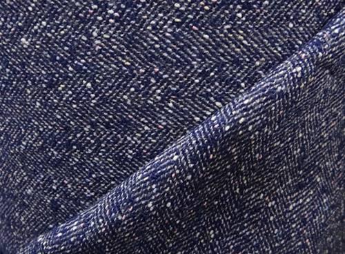 Tweed weave fabric herringbone twill