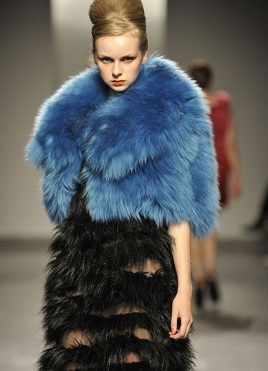faux fur fashion show