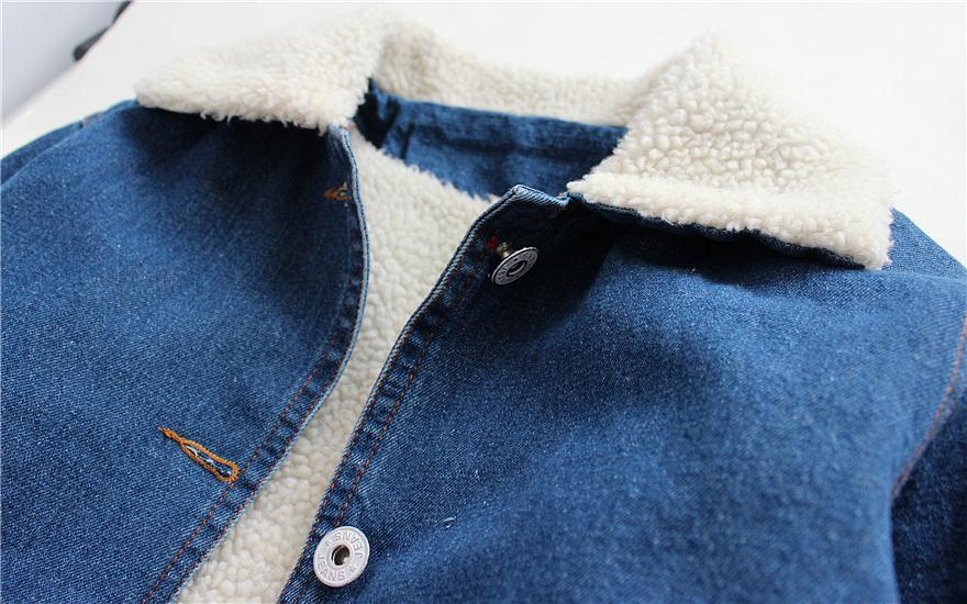 jeans jacket with Sherpa lining