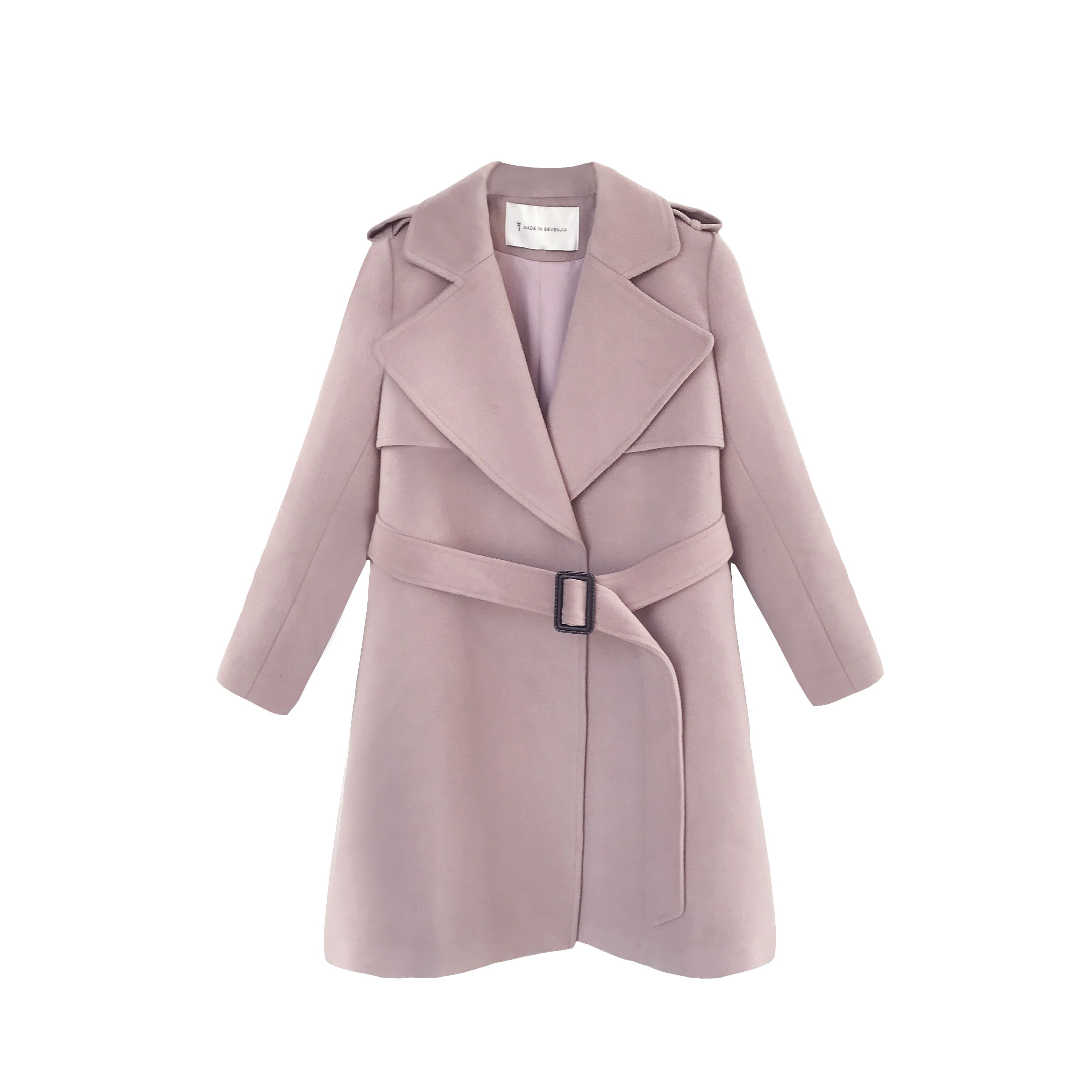 woolen overcoat from wool fabric