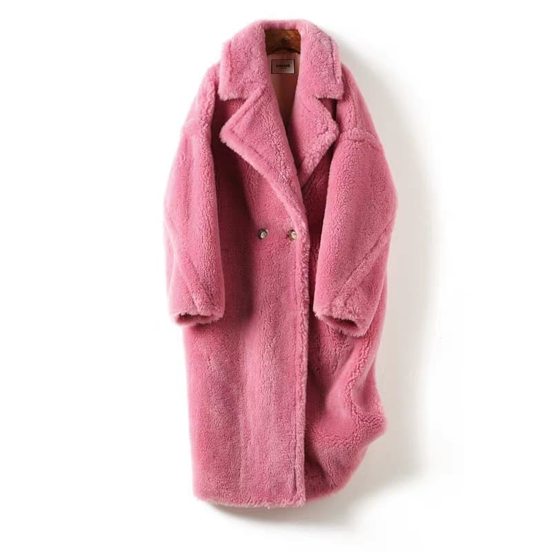 Teddy bear wool coat